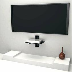 1 Floating Shelf Large Wall Mount Tempered Glass TV Accessor
