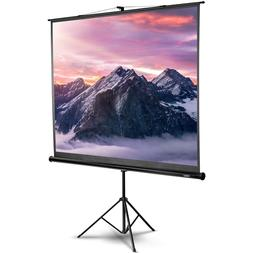 VonHaus 100 Inch Projector Screen with Stand 4:3 Aspect Rati
