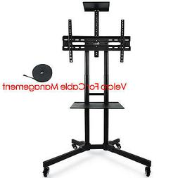 32-65 inches Flat Screen Mobile TV Mount Stand TV Cart with