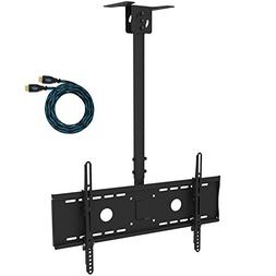 Cheetah Mounts APLCMB Tilt, Swivel Black TV Ceiling Mount fo
