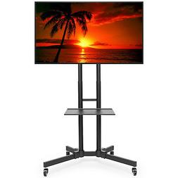Rolling TV Stand Cart Mount for OLED, LED, Flat Screen - fit