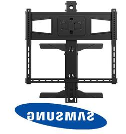 Above Fireplace Pull Down Full Motion Samsung TV Wall Mount