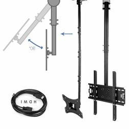 """Adjustable Flip Down Ceiling TV Mount up to 75"""" LCD LED Plas"""