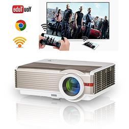 HD Indoor Outdoor Wireless LCD TV Wifi Projector Home Theate