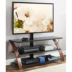 Whalen Brown Cherry 3-in-1 Flat Panel TV Stand for TVs up to