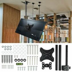 TV Folding Ceiling Wall Mount Bracket Tilt Swivel Flip Down