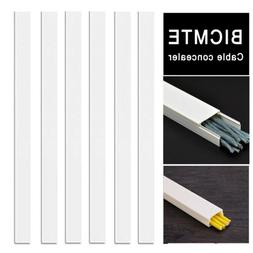 Cord Concealer Cable Management Channel - 94 inch White Cabl