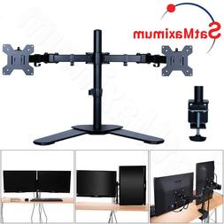 Dual LCD Screen Monitor Desk TV Bracket Stand Adjustable 10""
