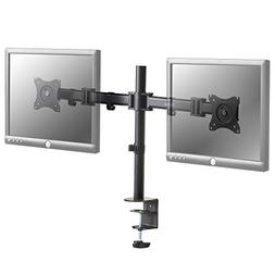 VonHaus Dual Monitor Mount - Double Arm Desk Mount with Clam