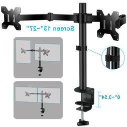 Dual Arms TV LCD Monitor Table Desk Mount Stand Holder Swive