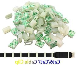 Ethernet Cable Clips,Ruaeoda 60 Pack 8mm Self-Adhesive Wire