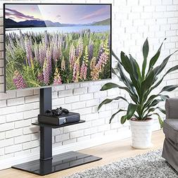 FITUEYES Swivel TV Stand with Mount Height Adjustable for 50