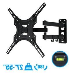 "Full Motion TV Wall Mount Tilt Swivel For 22""32""37""42""40""47"""