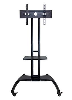 Luxor Height Adjustable Rolling LCD/LED Flat Panel Cart with