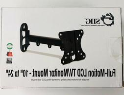 """SIIG Full Motion LCD TV/Monitor Mount 10"""" To 24"""" Tilting LCD"""