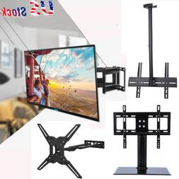 Full Motion TV Wall Ceiling Mount Swivel Bracket Stand LED L