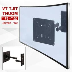 "Full Motion TV Wall Mount Bracket Tilt Swivel LCD LED 22""- 3"