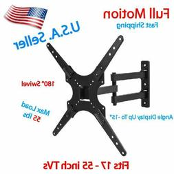 "Full-Motion TV Wall Mount Tilt Swivel For 27""32""37""42""46""47"""