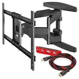 Mount Factory Heavy-Duty Full Motion TV Wall Mount with 10'