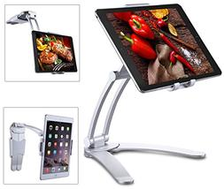 Jubor Tablet Stand Wall Mount, 2-in-1 Kitchen iPad Holder fo