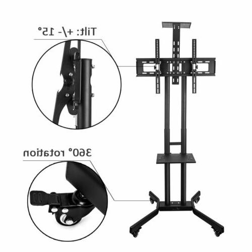 """32-70"""" Mobile TV Stand Mount Screen Plasma LED LCD Rolling"""