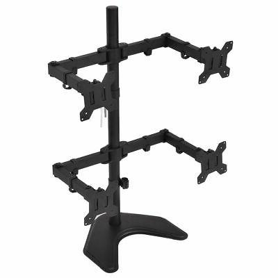 4 Monitor Mount Desk TV Stand up 27""