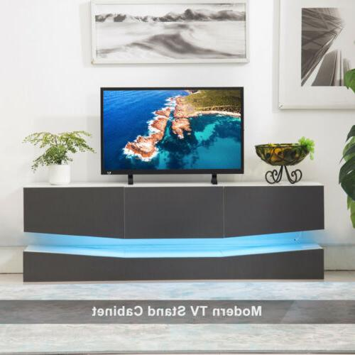 59''/47'' Floating LED TV Stand Wall Furniture Drawers