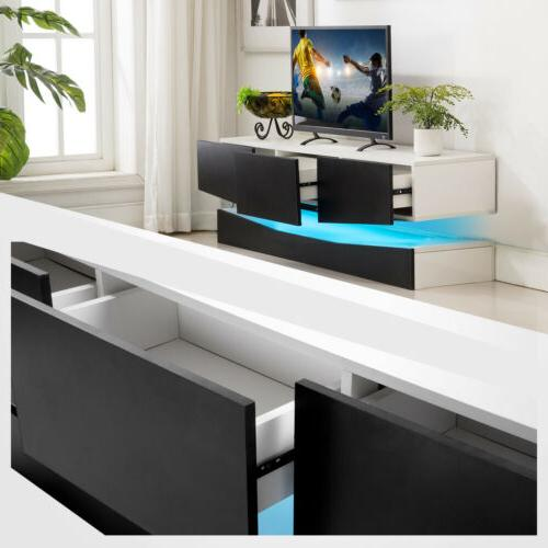 59''/47'' Floating LED Stand Wall Console Furniture w/ Drawers