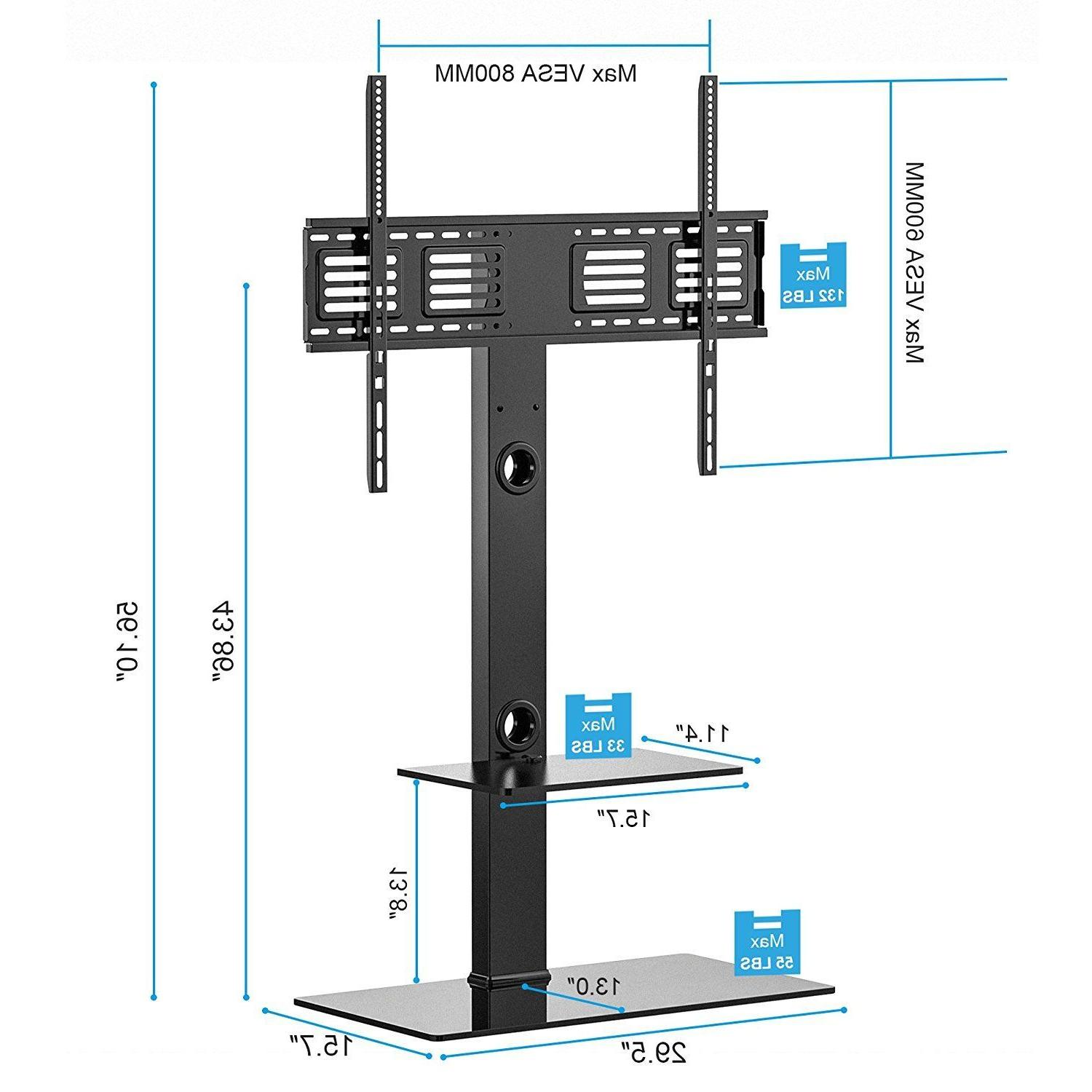 "Fitueyes Stand With Swivel Mount For 50-80"" Plasma LG Screen"