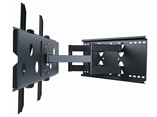 Monoprice Titan Full-Motion Articulating TV Bracket TVs to 60in Max Weight 175 of to 20.0in VESA Up Works & Brick