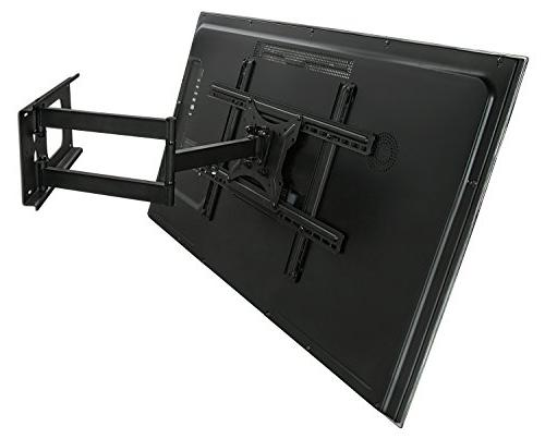 Mount-It! Full Articulating TV Wall for Plasma, LED, LCD Flat to 100 Pounds 600x400 Extend,