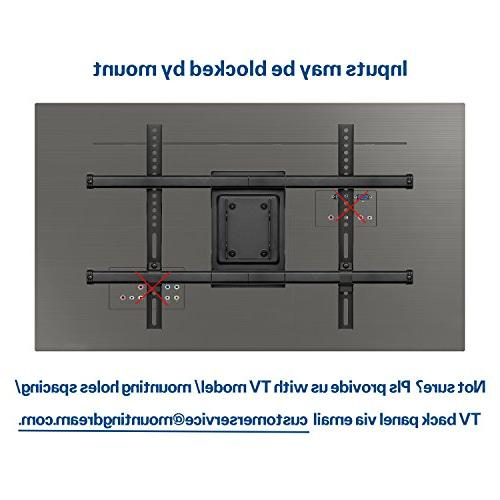 Mounting Full TV Wall Mount Bracket for 42-70 Inch LCD Screen Bracket, up to x 400mm and LBS Loading,