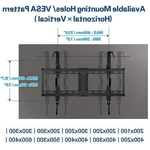 "Mounting Dream Wall Bracket Most 42-70 TV, with 200x100 to Loading Capacity Fits 16"", 18"", Studs"