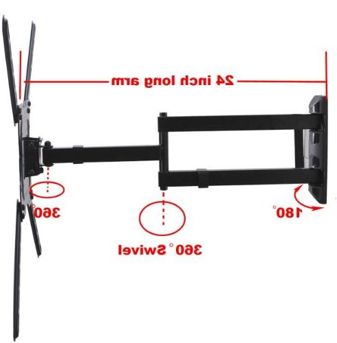 """VideoSecu TV Wall Profile Articulating Cantilever wall bracket for 22"""" TV Flat VESA 200x200 400x400 to"""