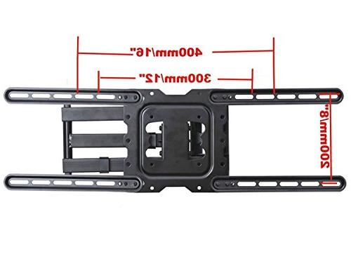 """VideoSecu 24"""" TV Profile Articulating Motion Cantilever bracket 22"""" to 55"""" LED TV Monitor VESA 200x200 400x400 to 600x400mm MAH"""