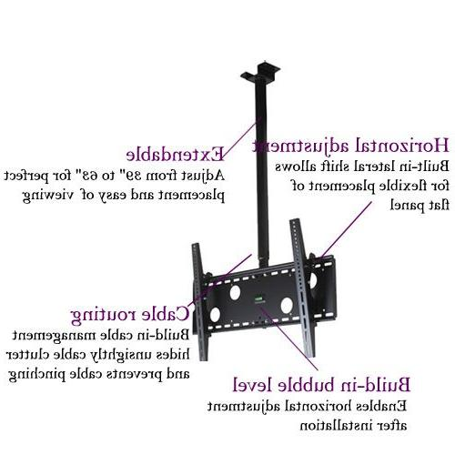 "VideoSecu TV Mount Bracket for 37"" to 75"" LCD Flat Panel,some 75"" VESA 400X400 700x400mm, Ceiling from 39"" MPC51B M10"