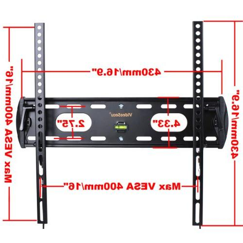 VideoSecu TV Tilt Profile Slim for LED LCD Plasma TV, TV VESA to 400x400
