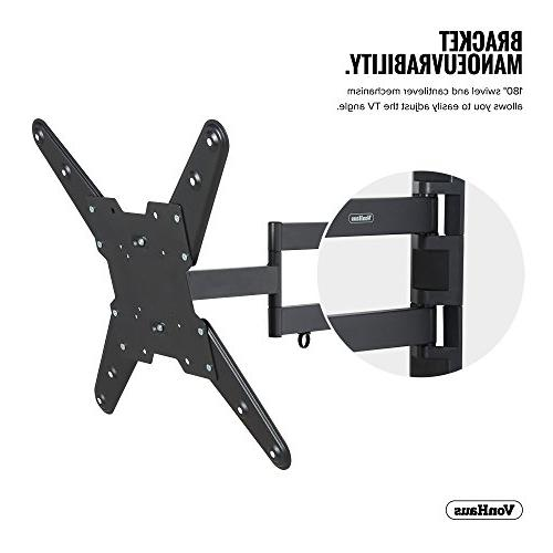 VonHaus TV Wall Full for 23-55 LCD, Plasma Flat 77lbs lbs Max with Extension Arm, Tilt TV
