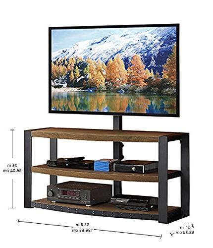 Whalen - Console For Most Tvs Up - Warm Ash
