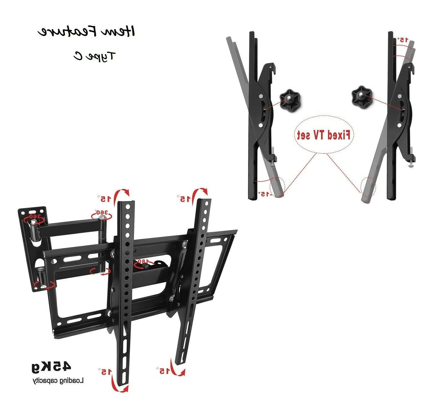 Articulating Tilt Curved TV Wall Mount 32 39 42 52 LED LCD Plasma CC
