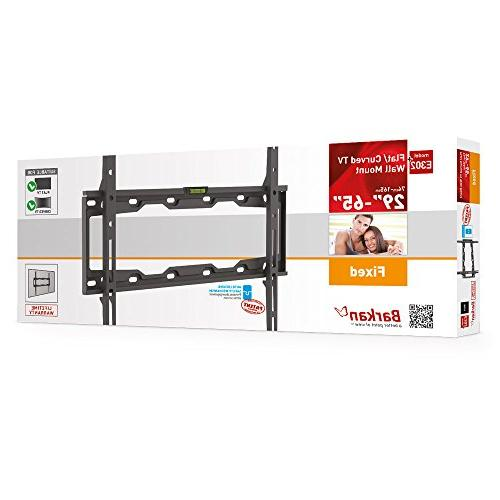 """Barkan Auto-lock Curved/ Flat TV Mount for 29"""" -65"""" Screens to 110 lbs.."""
