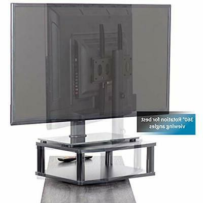 Black TV Turntables Rotating Tabletop Mount 13&quot