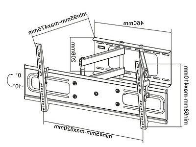 """Cantilever Swivel Samsung TV Wall Mount 42 Inch 65"""" LCD"""