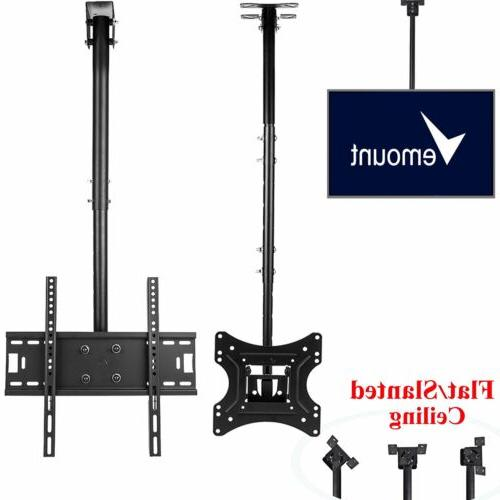 "Adjustable Flip Down Ceiling TV Mount up to 70"" LCD LED Plas"