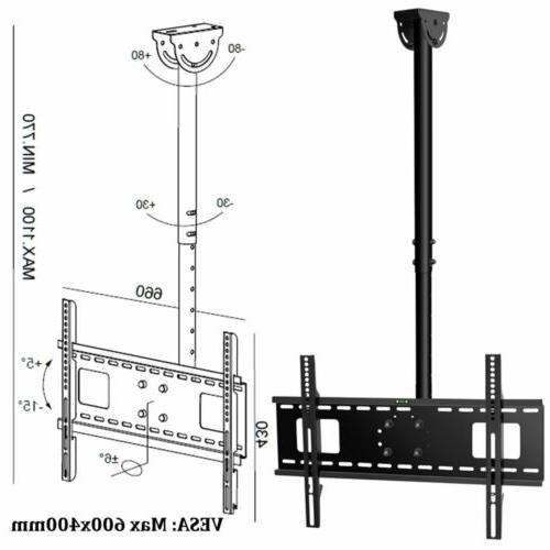"Adjustable Flip TV Mount 70"" LCD LED VESA"