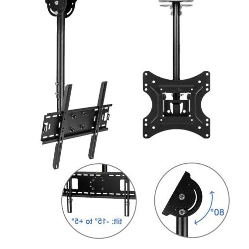 TV Ceiling Mount Height Adjustable and Tilt for LCD LED Flat