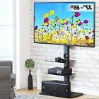 Corner TV Stand With Shelves 32 - 65 inch Flat Screen Swivel
