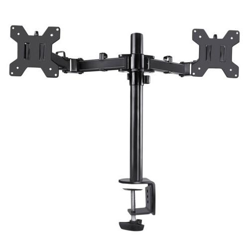 Dual Arm Monitor Desk Mount 2 Up