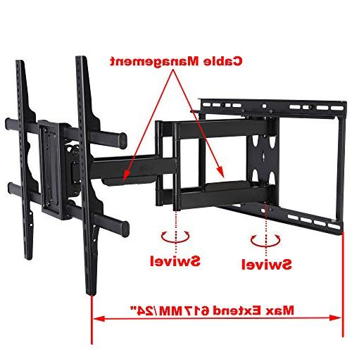 "VideoSecu Articulating Full Large Bracket 65"" 82"" 88"" Vizio Samsung OLED inch Max up to 135 1B0"