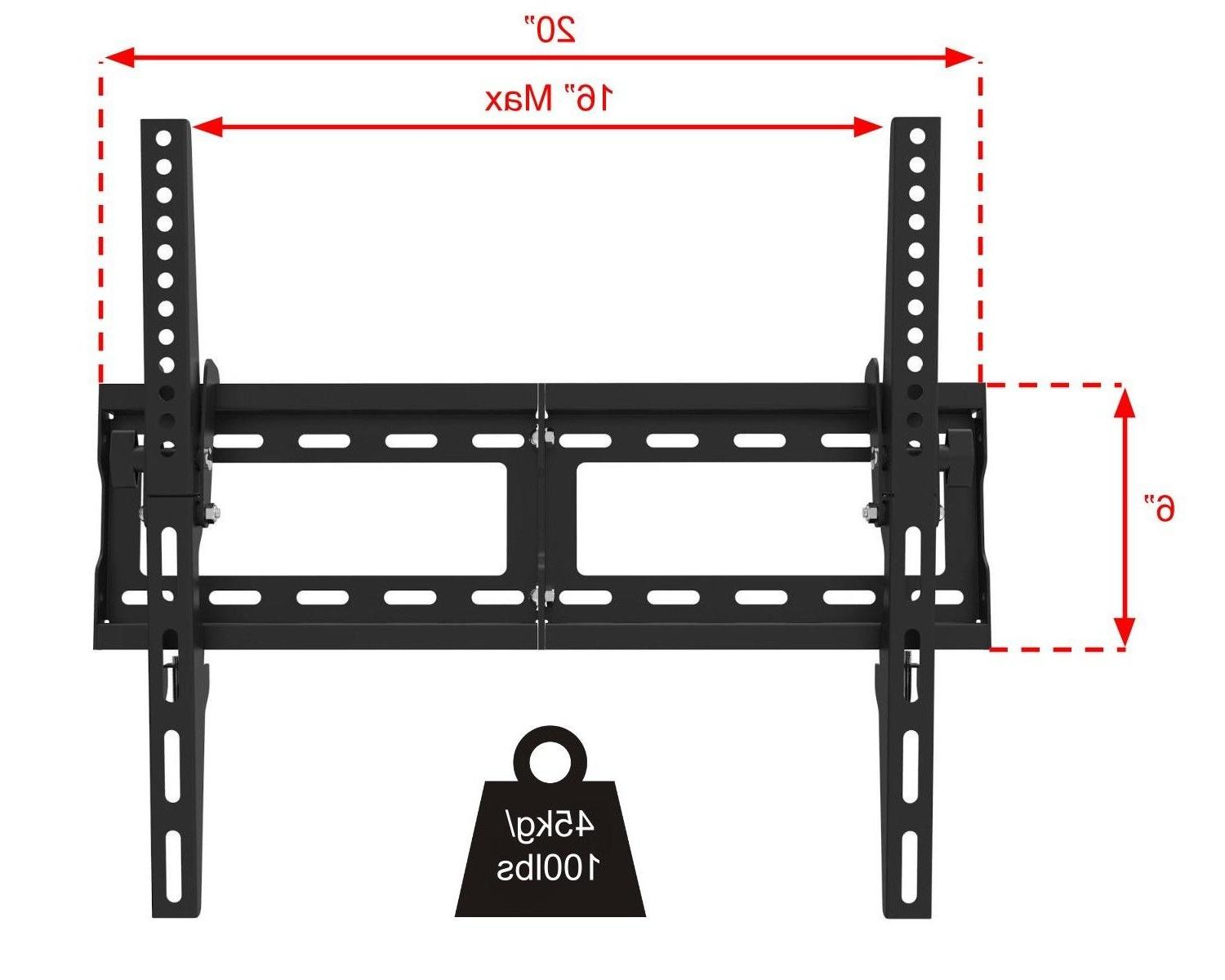 Flat Tilting TV Wall Mount 32 52 65 LED LCD Samsung Sony Vizio